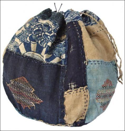 Japanese Cotton Komebukuro Boro Rice Bag
