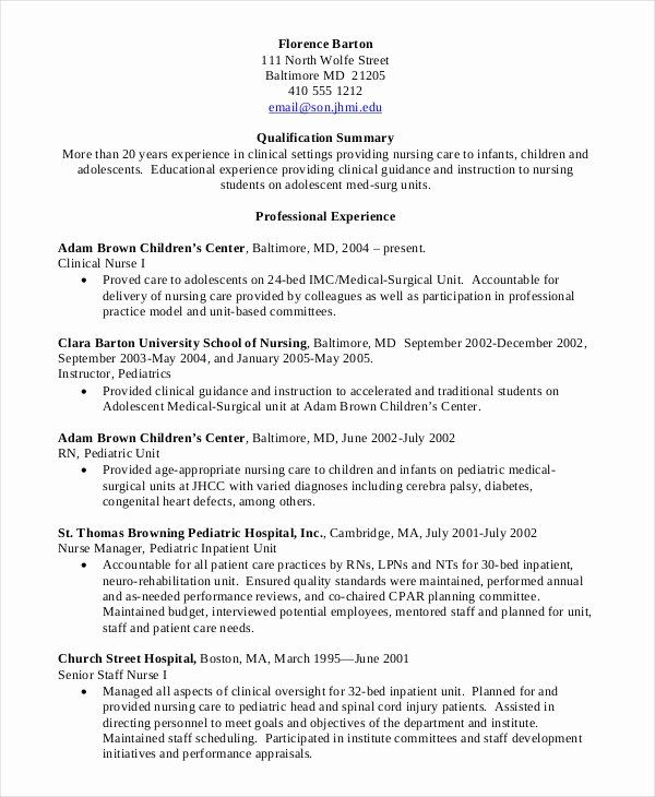 Nursing Clinical Experience Resume Unique Nursing Student Resume