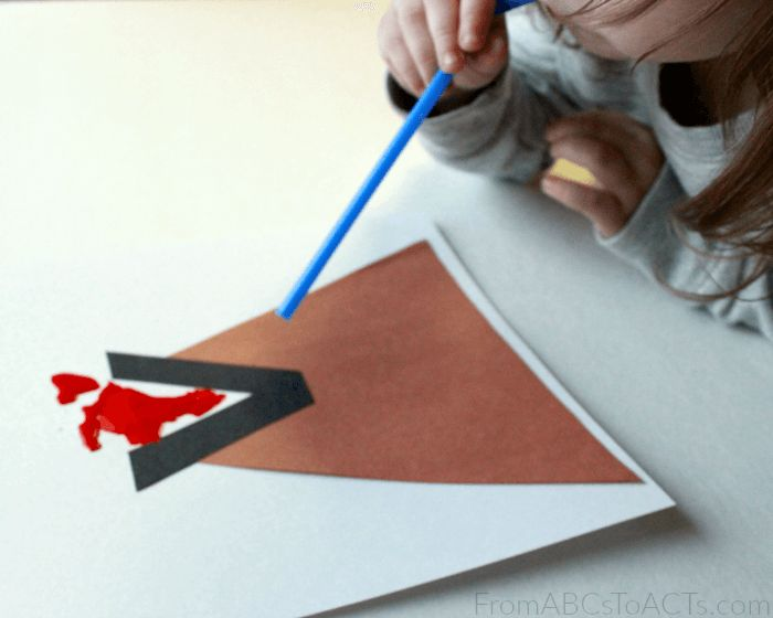 Volcano Letter V Craft for Kids