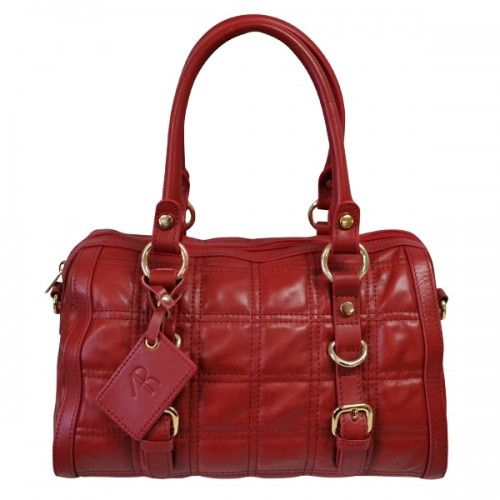 CAMMARAY - Womens Red Genuine Leather Bag - FREE DELIVERY