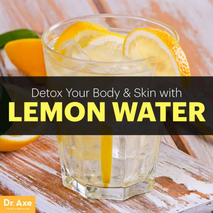 Lemon water - Dr. Axe