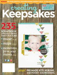 Current Issues of Creating Keepsakes scrapbooking magazine free downloads every month
