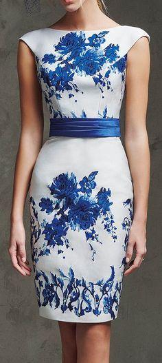 Laira Mikado Silk and Jacquard Cocktail Dress. / Pronovias
