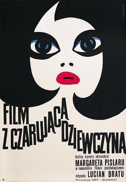 [1967 movie poster] WIKTOR GORKA (1922-2004)  Contexto: Años 60s 70s ÉPOCA DORADA de la escuela del cartel polaco.  Su estilo:  _Dibujo y pintura Relación con el mundo del cine y teatro polaco.