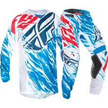 Fly Racing 2017 Kinetic Relapse Red/White/Blue Kids Gear Set