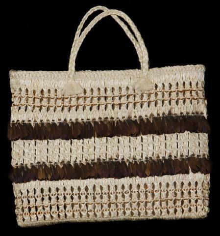 Name/Title Kete Muka / Flax Basket Pheasant feathers - (Maniapoto) Primary MakerHetet, Rangimarie