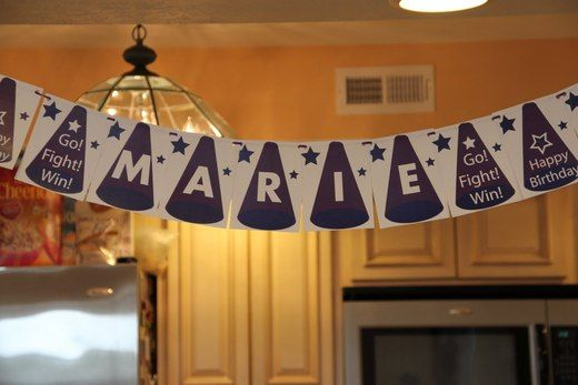 Cheerleading Birthday Party Ideas | Photo 1 of 28 | Catch My Party