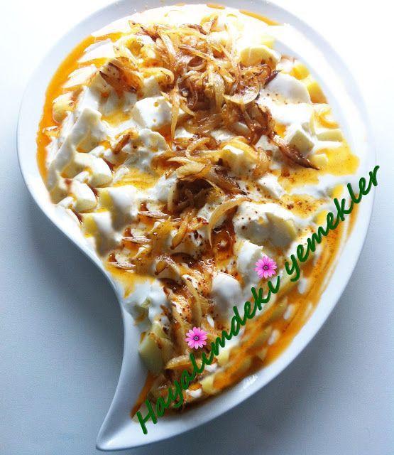 Tereyagli Soganli Patates Salatasi