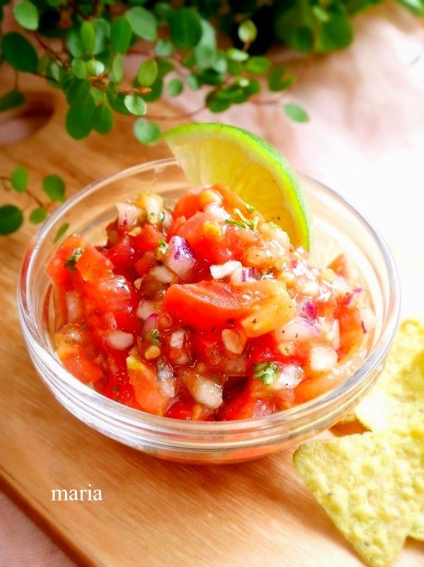トマトのサルサとアボカドディップ(ワカモーレ) - おうちカフェ*