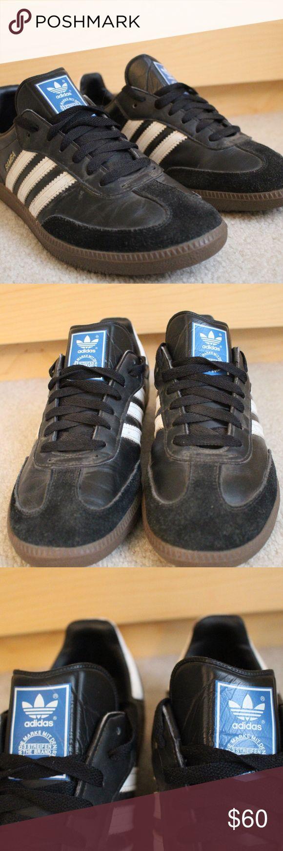 Adidas Samba Shoes Women Size 9.5 Lightly used women's Adidas Samba Shoes. Black and white, classic style. Women's size 9.5. adidas Shoes Sneakers