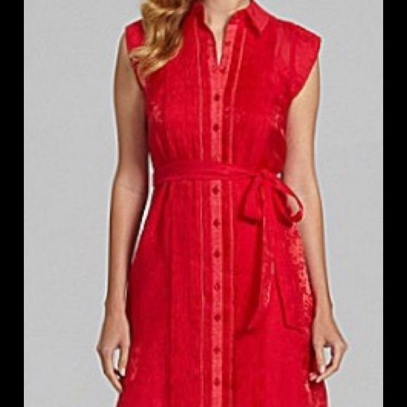 Price Drop !!! Antonio Melani Leocadia. Jacquard Antonio Melani Leocadia summer jacquard shirt . Does not have belt. Color. Watermelon . ANTONIO MELANI Dresses
