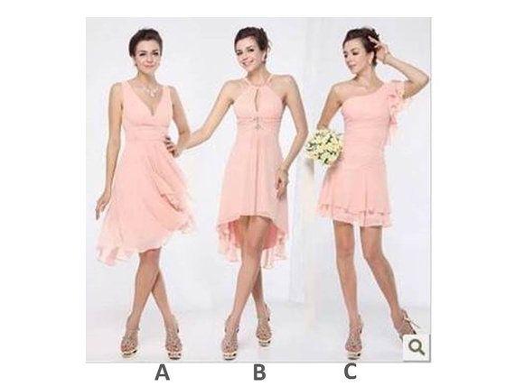 Mismatch Bridesmaid Dress  Pink kneelength bridesmaid by BridalUp, $82.90
