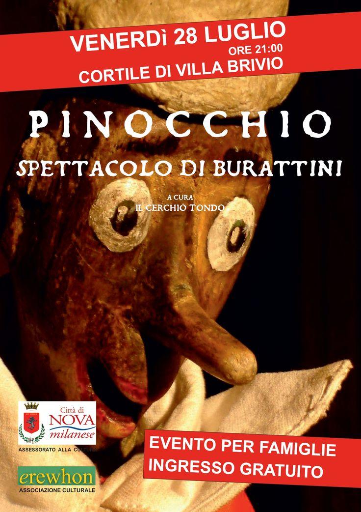 Pinocchio, spettacolo di burattini in Villa Brivio