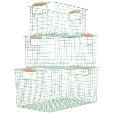Ooh these are nice! mint Carolyn Donnelly Eclectic Metal Storage Basket