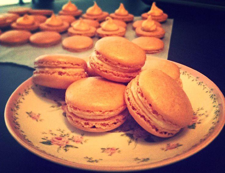 Pretty Coconut Cream Macarons by B.A.K.E.D, Perth WA