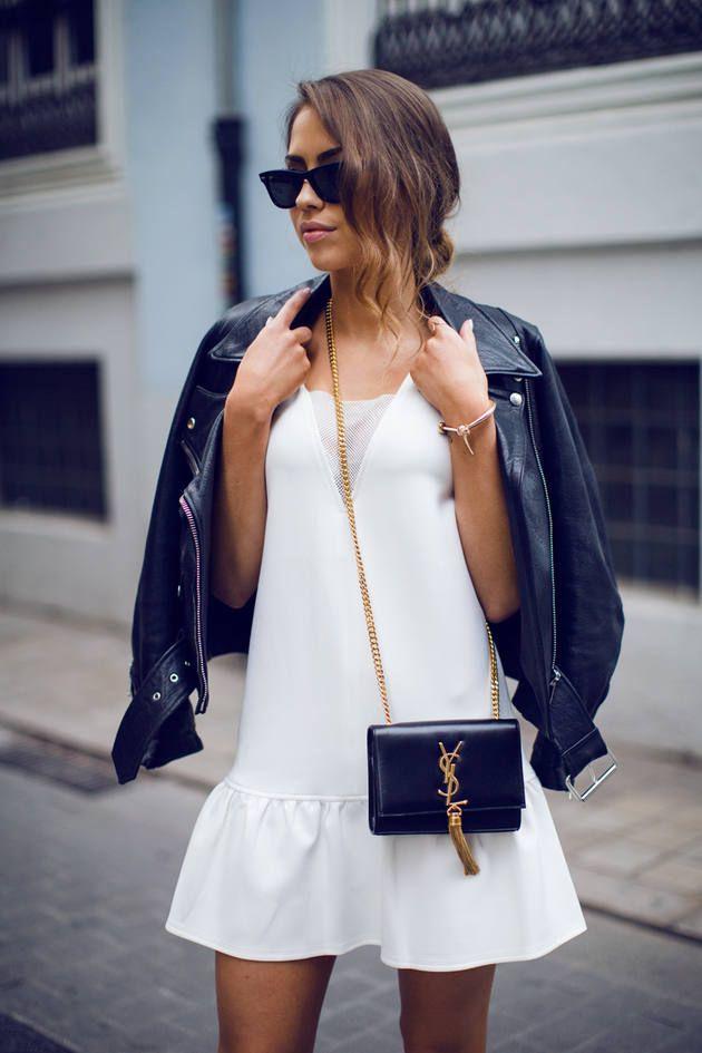 Stripe Tassel Hem, Hauts Femme, Blanc-White (White Patterned), 40New Look