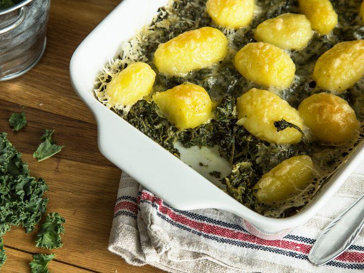 Heiße Ofenliebe: vegetarischer Grünkohl-Kartoffel-Auflauf