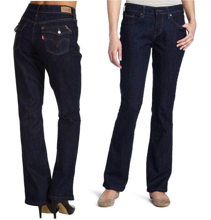 Leviu0026#39;s 515 Styled Boot Cut Jeans Night Fall Styled womenu0026#39;s sizes 4 6 NEW 29.99 http//cgi.ebay ...