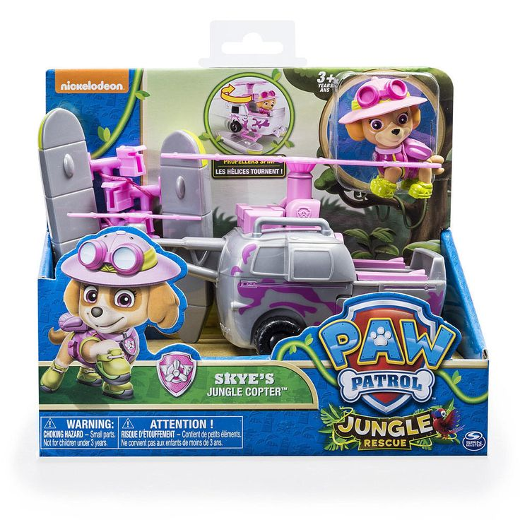 Paw Patrol Skye s Jungle Rescue Copter Toy -Authentic-Paw Patrol Toys Helicopter