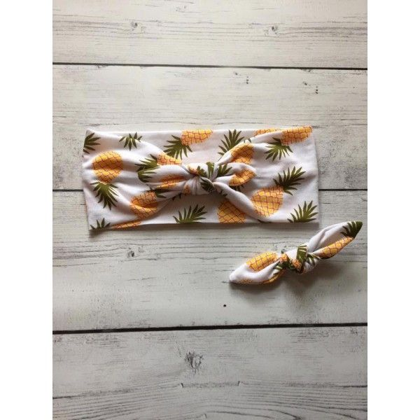 Our Pineapple Rockabilly Band is a must have fashion accessory! This headband is made of Yellow, Brown, & Olive Pineapple knit print and is a great fashionable headband. This fun print is perfect for