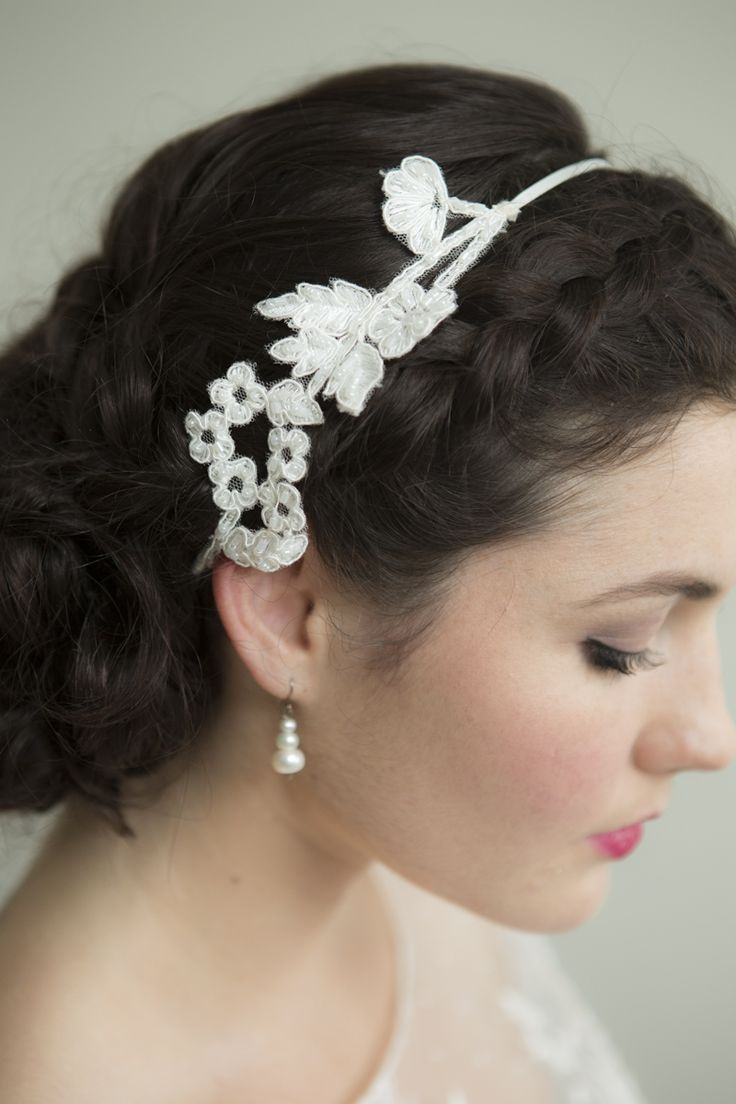 Lace headpiece...Beautiful!!  by Sophie Voon Bridal  Sophie Voon wedding dresses lovingly designed and crafted in our Wellington, New Zealand workroom.