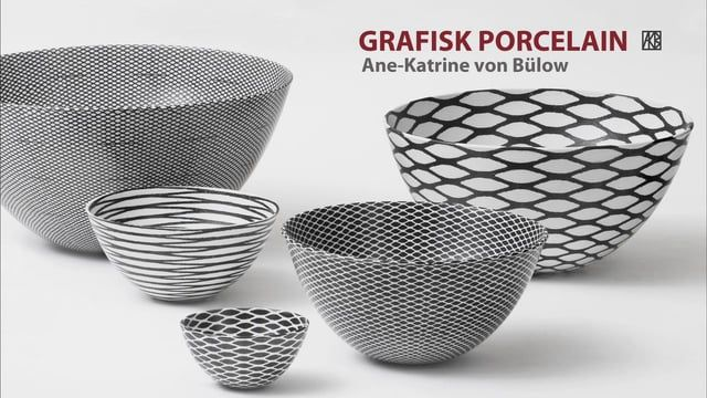 Graphic Porcelain is a short film, where the ceramist artist Ane-katrine von Bülow, Denmark, shows her skill of silk screen printing and transferring the 2 D graphic pattern, as a template, on to the 3D porcelain bowl; making the pattern fit, cover and grow with the form, Ane-Katrine shows her work with the porcelain from the very start to the end.