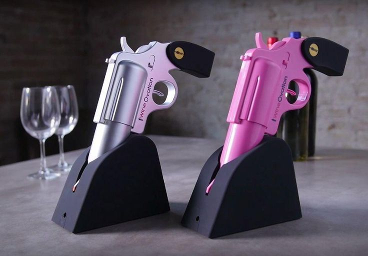 WineOvation WNO-01 Powered Electric Wine Opener Gun, (Silver)