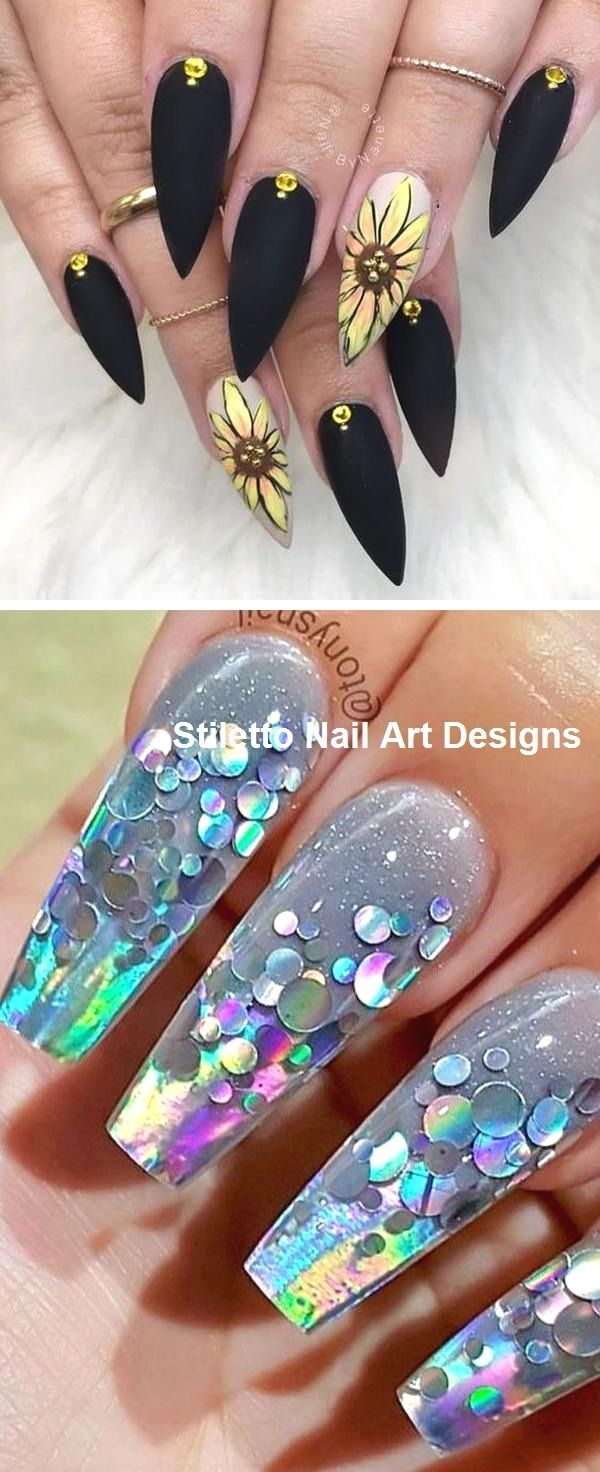 30 Great Stiletto Nail Art Design Ideas Nailart Nail Stiletto Nails Designs Stiletto Nail Art Pretty Nail Art Designs