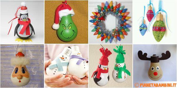 Lampadine Decorate Per Natale : Oltre 1000 idee su Decorazioni Con ...