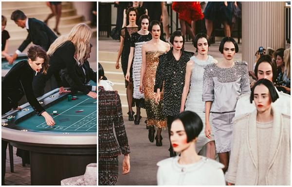 In #fashion, poker faces are stock standard. Why not put the game in a show?! Duh. #AW15