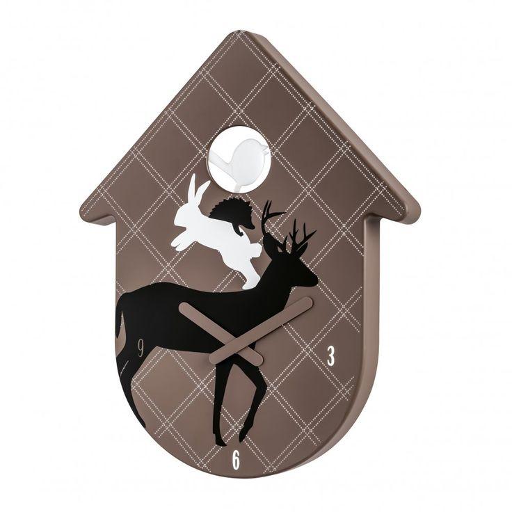 Koziol Toc Toc Wall Clock | Buy Designer Contemporary Cuckoo Clocks