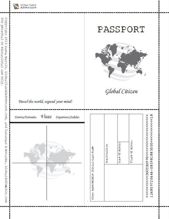 1876 best Social Studies images on Pinterest Passport template - copy recommendation letter format for tatkal passport