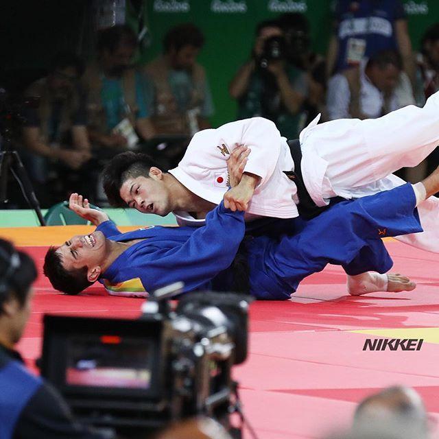 【リオ五輪】柔道男子73キロ級決勝で、大野がアゼルバイジャン選手に一本勝ちしました。今大会の日本柔道で初の金メダルです(玉) #日経リオ #nikkei_rio…