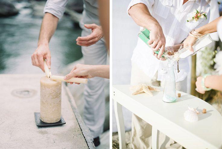 Ceremonia de la unidad: con velas y con arena