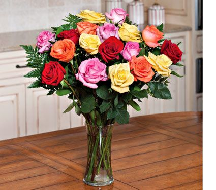 NEW! Crescendo of Roses Bouquet with Vase - White Flower Farm