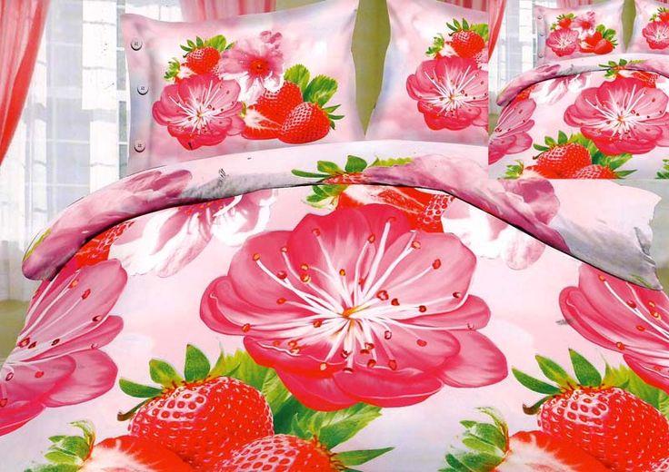 Kwiaty w sypialni Pościel 3D