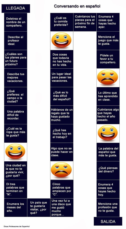 Espanhol: de professor para professor: Atividade de Espanhol: jogando e conversando