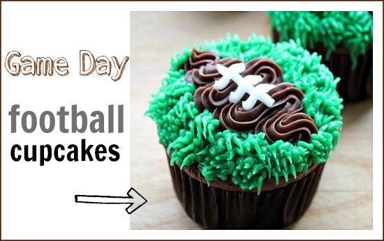 Game day football cupcakes via @Tonya Seemann Seemann Seemann Seemann Staab