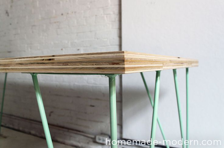 HomeMade Modern DIY The Easy DIY Table Options  Definitely want to build this for my office1 ToDo Project!