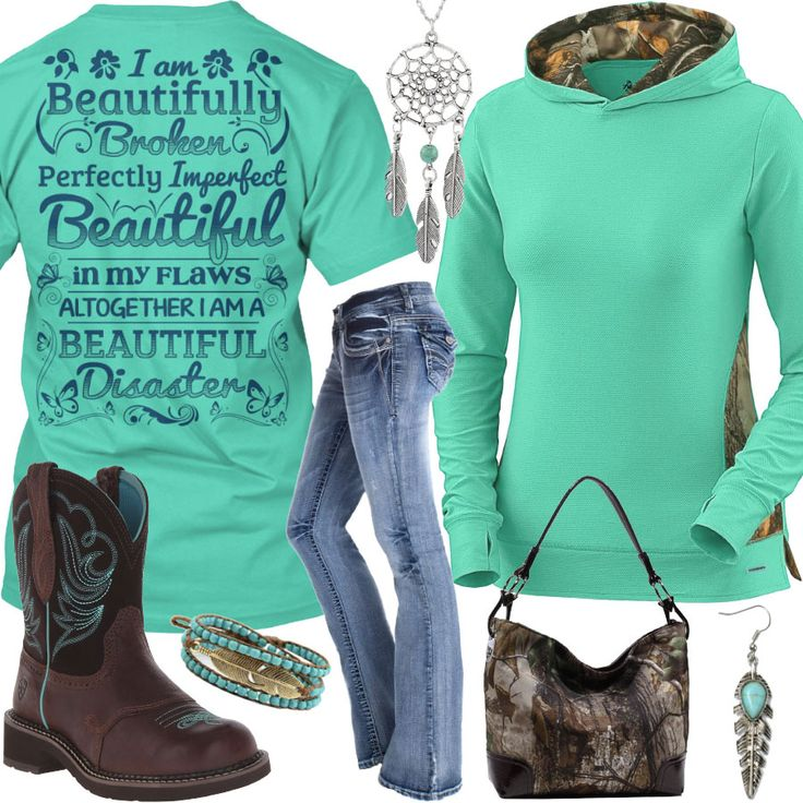 Beautiful In My Flaws, Altogether I Am A Beautiful Disaster Outfit - Real Country Ladies