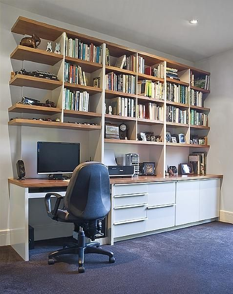 17 Best Images About Home Office Designs On Pinterest Wall Desk Customs Office And Libraries