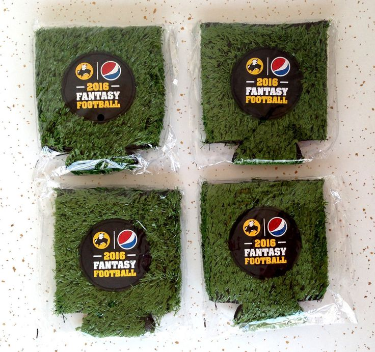 BW3 Buffalo Wild Wings 2016 NFL Fantasy Football Field Turf Can Coozies New