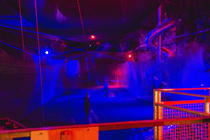 ZipWorld's Bounce Below trampoline park in the old Victorian slate mines