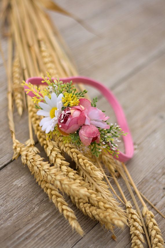 Flower headband hairband by EvaFlowersDesigns on Etsy