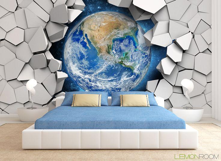 Fototapeta 3D Kosmos >. http://lemonroom.pl/fototapety-35-Fototapety-D-wf214-Kula-ziemska-w-scianie.html  #fototapety #fototapeta #fototapety3D #Design #WystrójWnętrz #inspiracje #Dekoracje #Wnętrza #Aranżacje #Wnetrza #wystrojwnetrz #InteriorDesign #HomeDecor #Decorating #WallDecor #WallArt #Wallmurals #murals