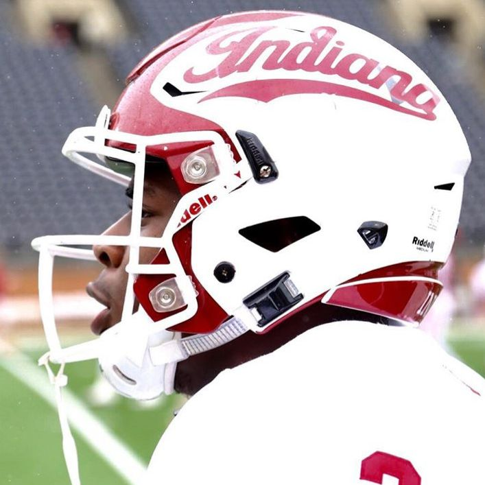 Check out the new helmets in action today for Indiana Football with special Red…