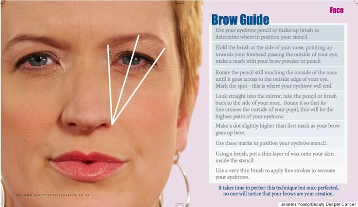 eyebrow guide chemotherapy