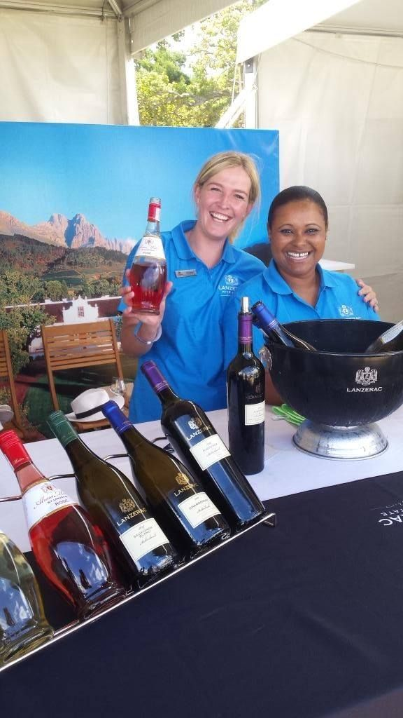 Rozane Dicks and Lucrecie Govender at the Stellenbosch Wine Festival