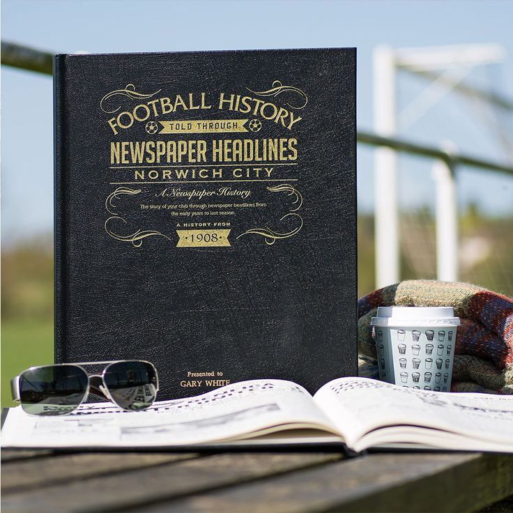This Personalised Norwich History Book is the perfect gift for any fan of the club. The book kicks off with the earliest newspaper reports, covering their most memorable games and star players, leading right up until last season. See below for why the History of Norwich FC Book is the ultimate piece of memorabilia that will instantly become a treasured keepsake.