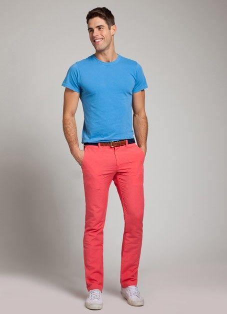 Faded Red Linen Pant for Men | Bonobos